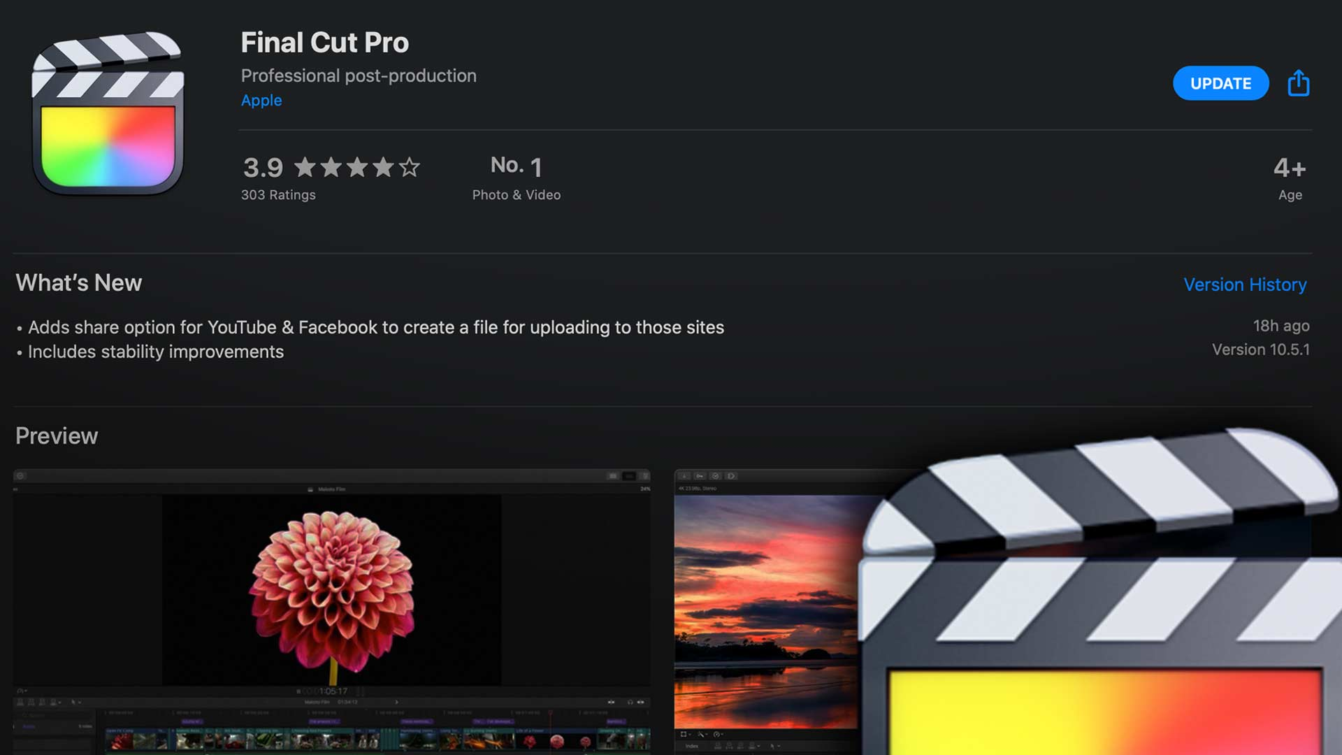 Apple Updates Final Cut Pro to 10.5.1 and Compressor to 4.5.1