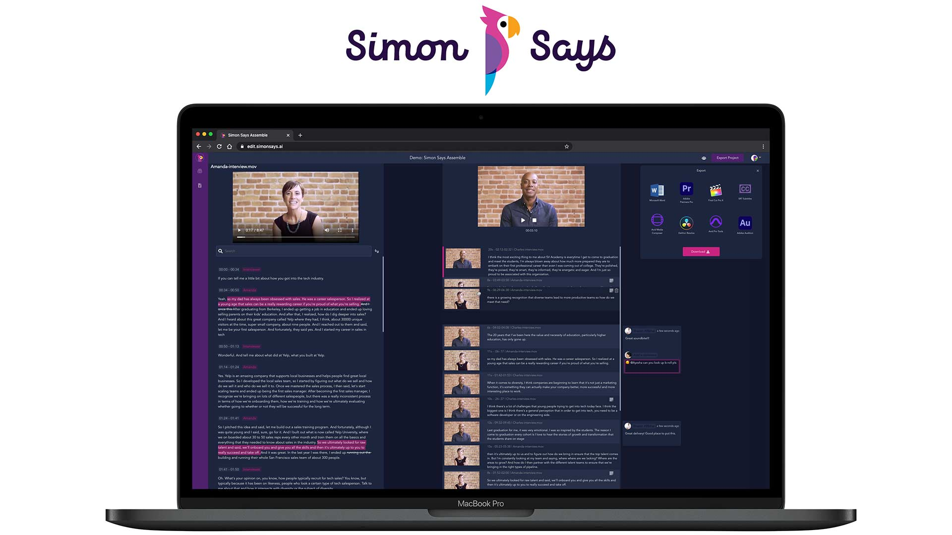 Simon Says Assemble Released - Build Edits by Dragging and Dropping Text