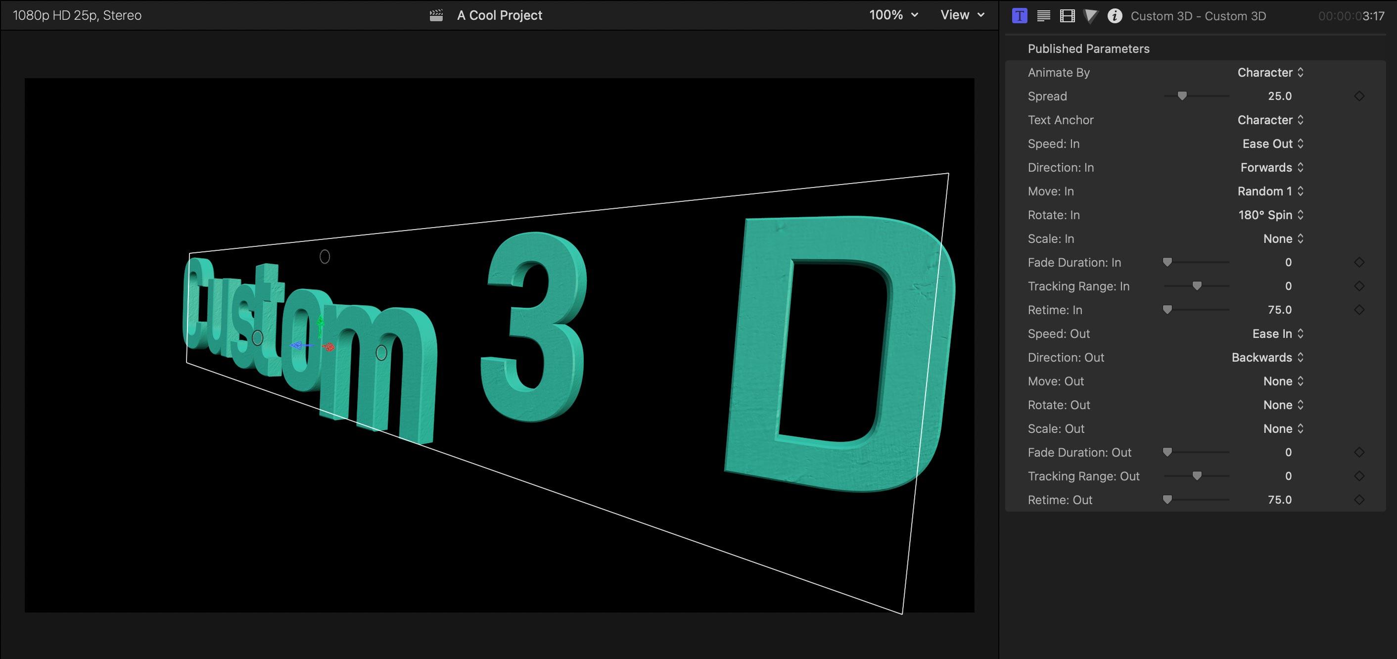 custom 3d text