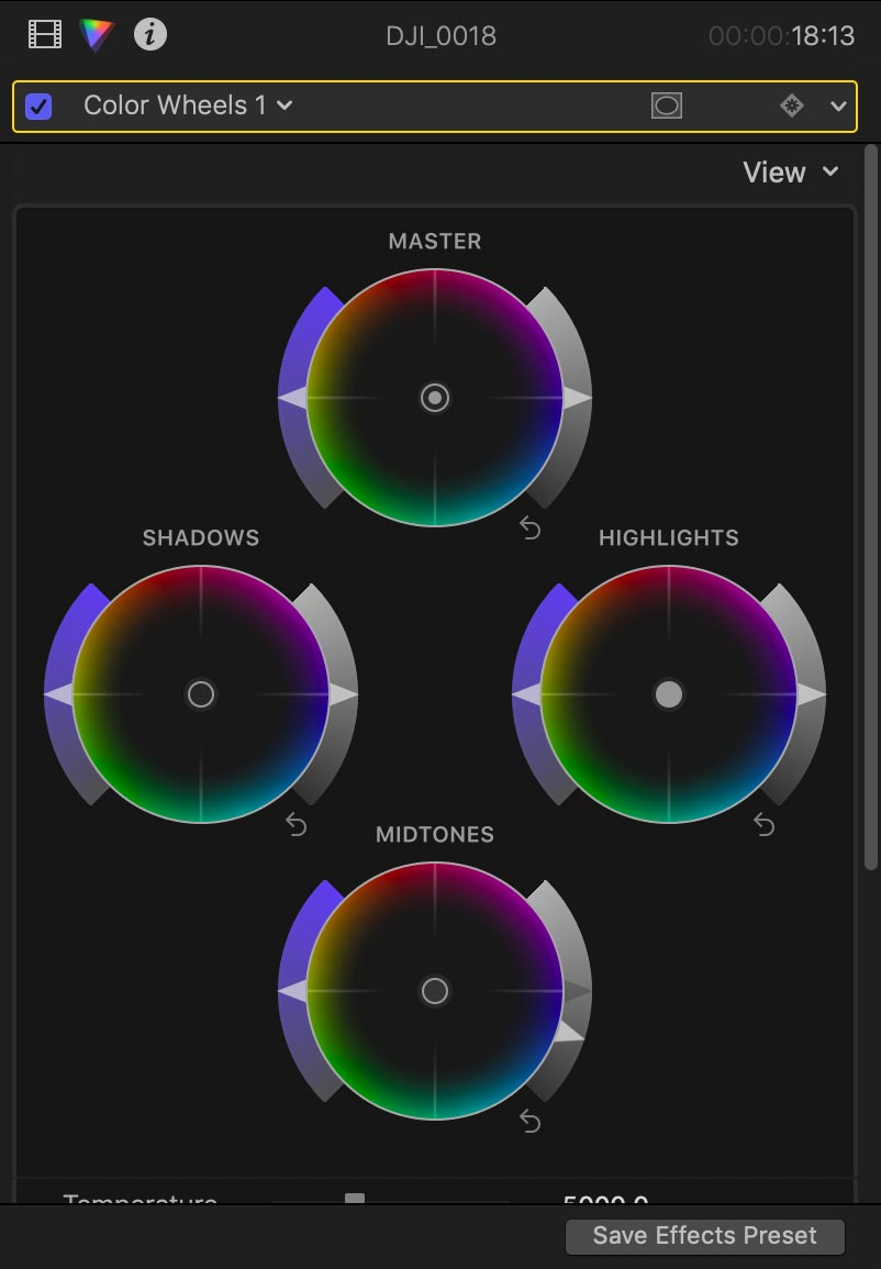 fcpx interface inspector