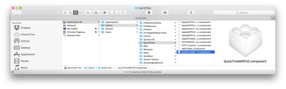 Quicktime Mpeg2 Component For Mac