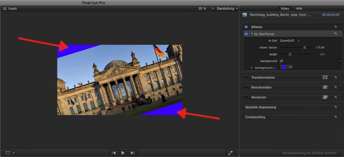 FCP co Forum :: Topic: Ken Turns Effect / Zoom Rotate In Out