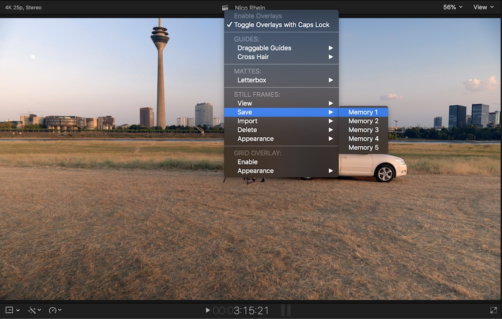 FCP co Forum :: Topic: Quickly compare shots for CC / manually