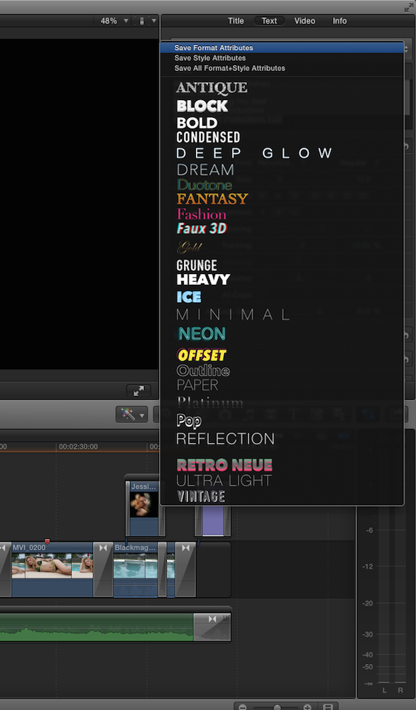 FCP co Forum :: Topic: How do you copy and paste TITLE effects? Is