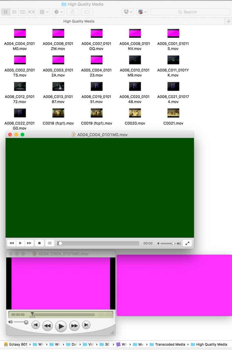 fcpx-pinkframes-pinkinfinderandQTgreeninvlc.jpg